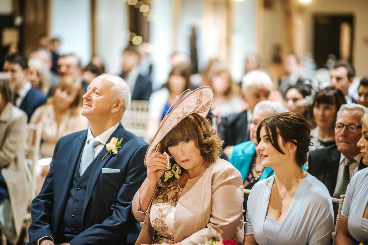 norton park wedding ceremony tears