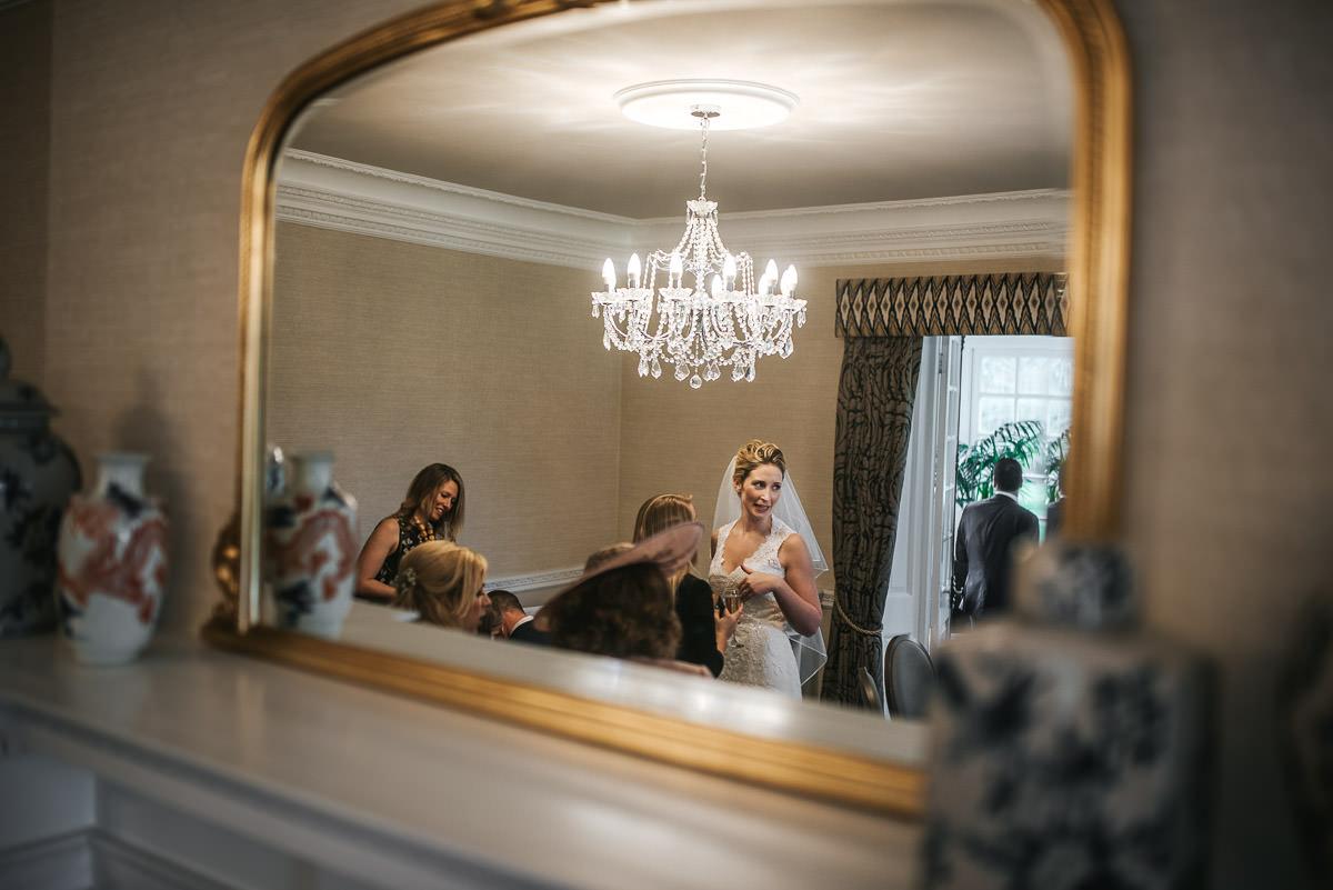 norton park wedding drinks reception reflection