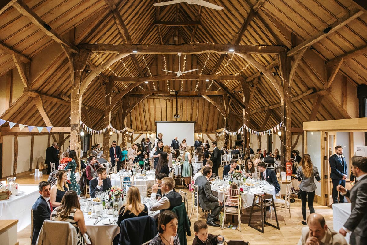 winchester wedding tythe barn full