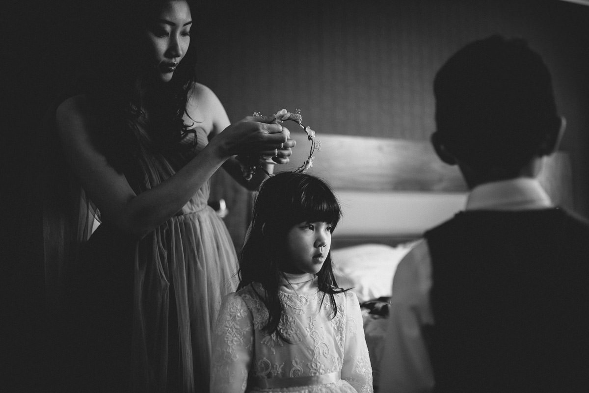 chinese wedding photography london flower girl