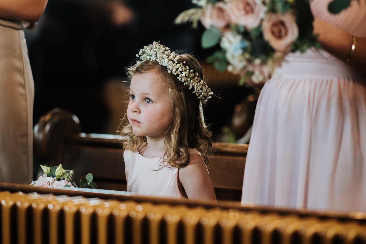 kent wedding photography flower girl