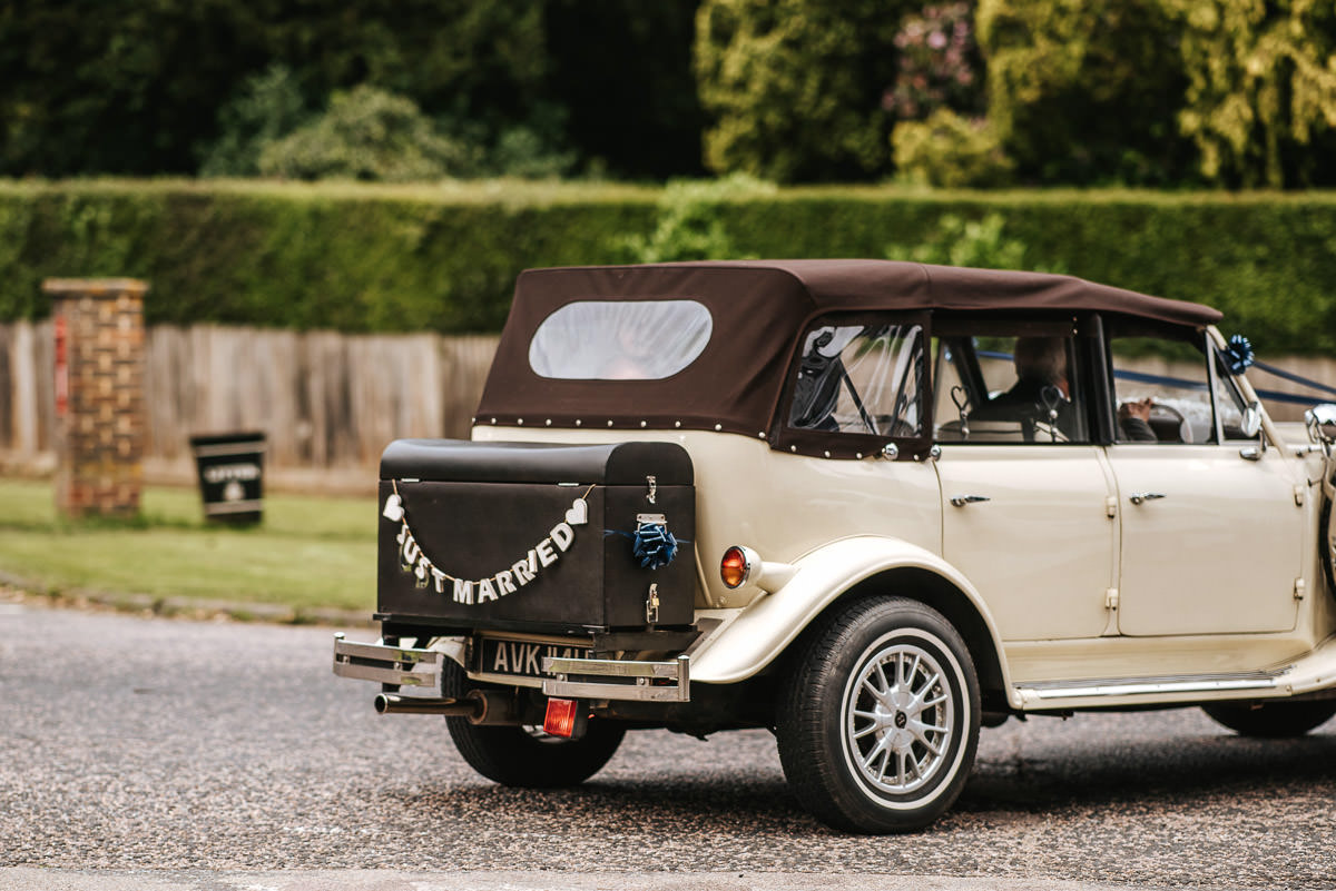 kent wedding photography wedding car