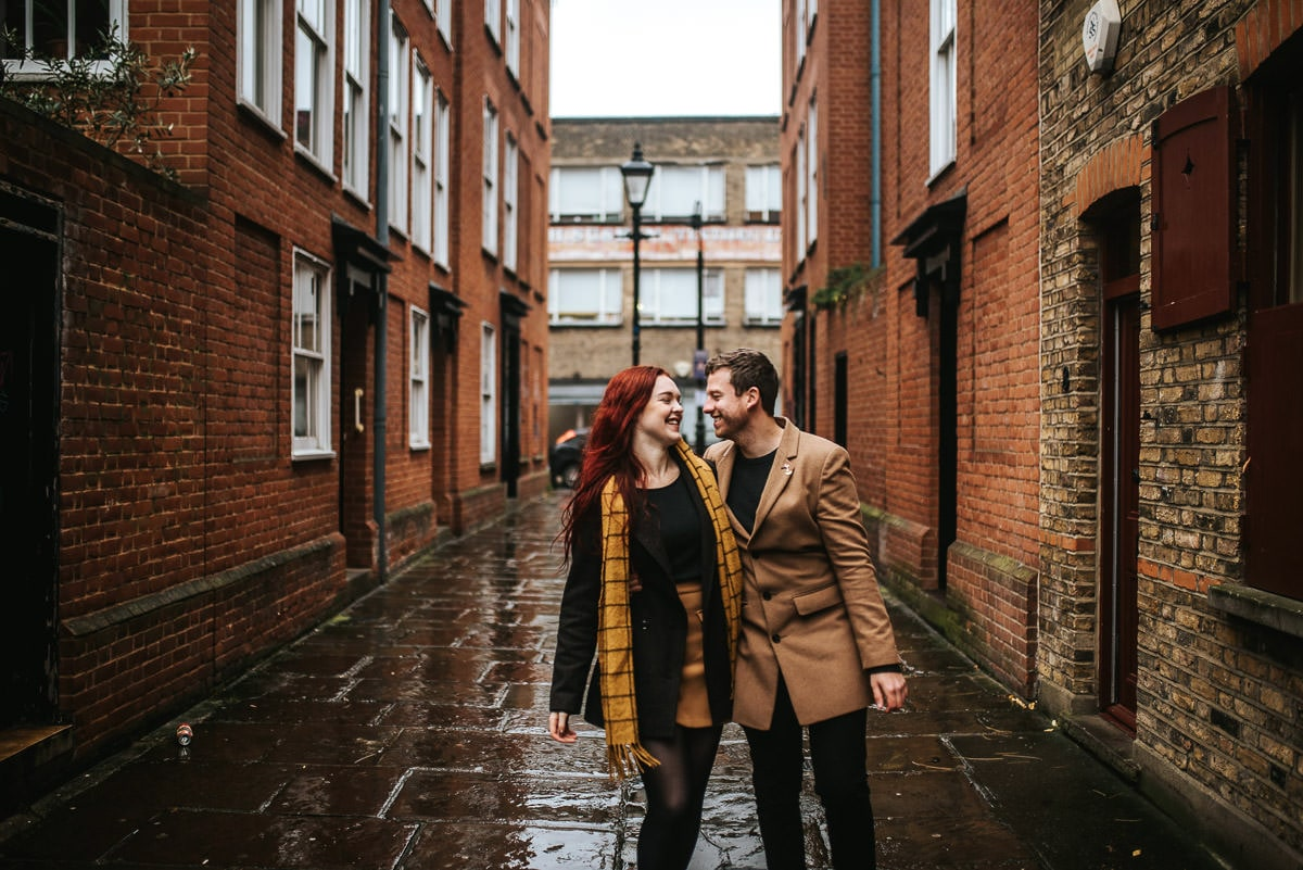 london engagement photography brick lane