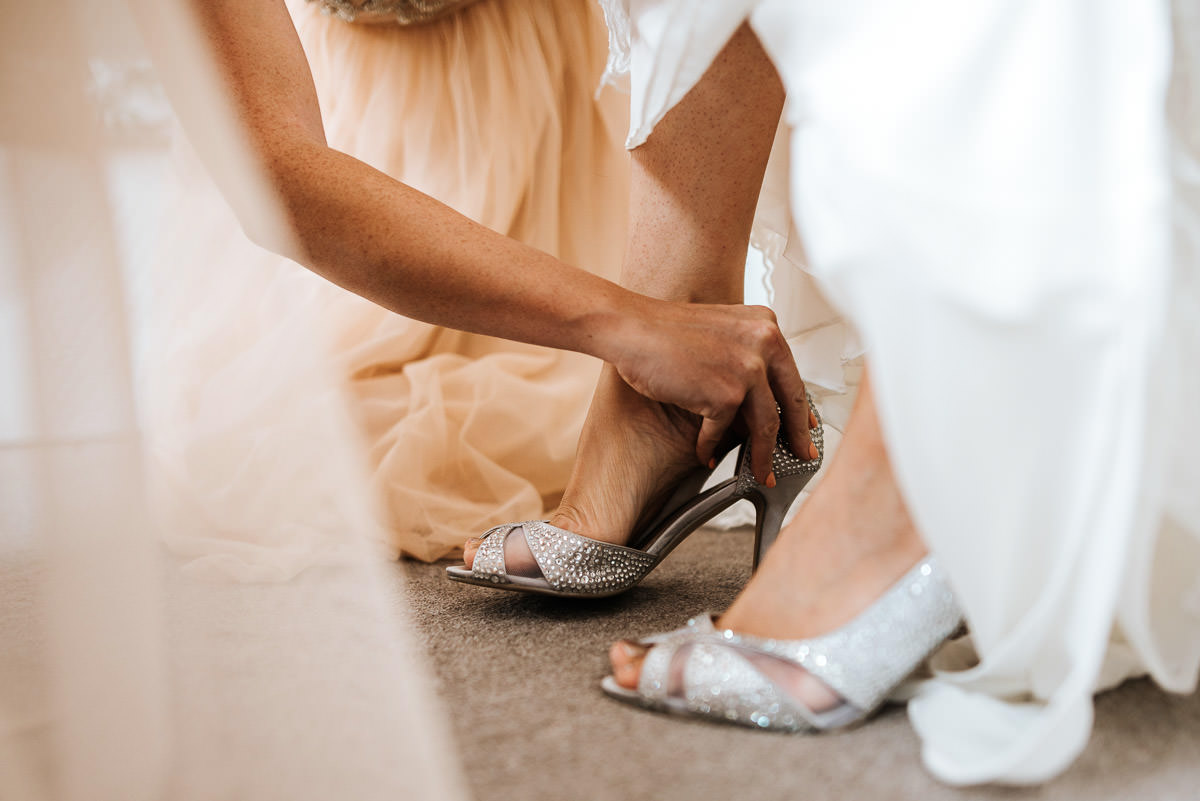 islington town hall wedding photography shoes on