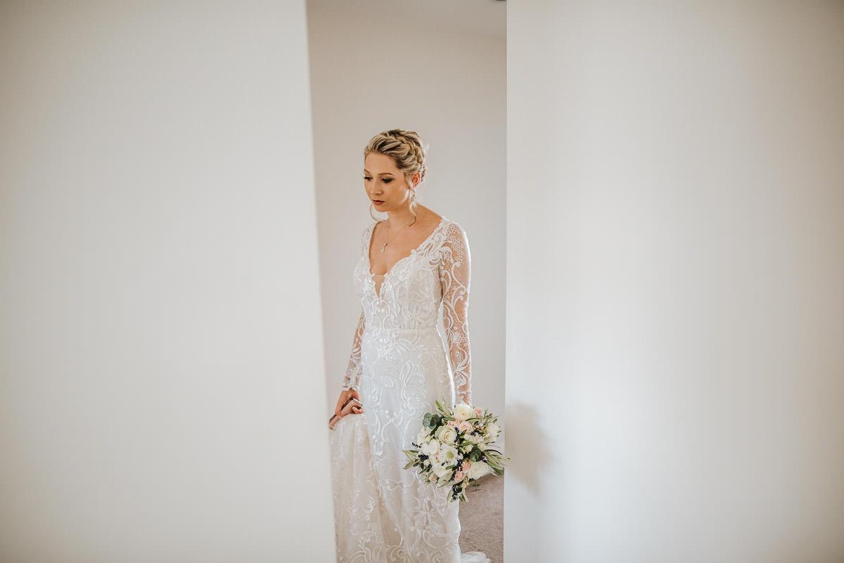 islington town hall wedding photography bride contemplating