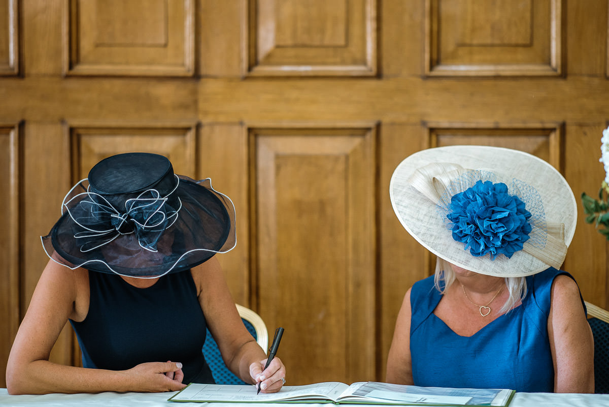 islington town hall wedding ceremony signing the register