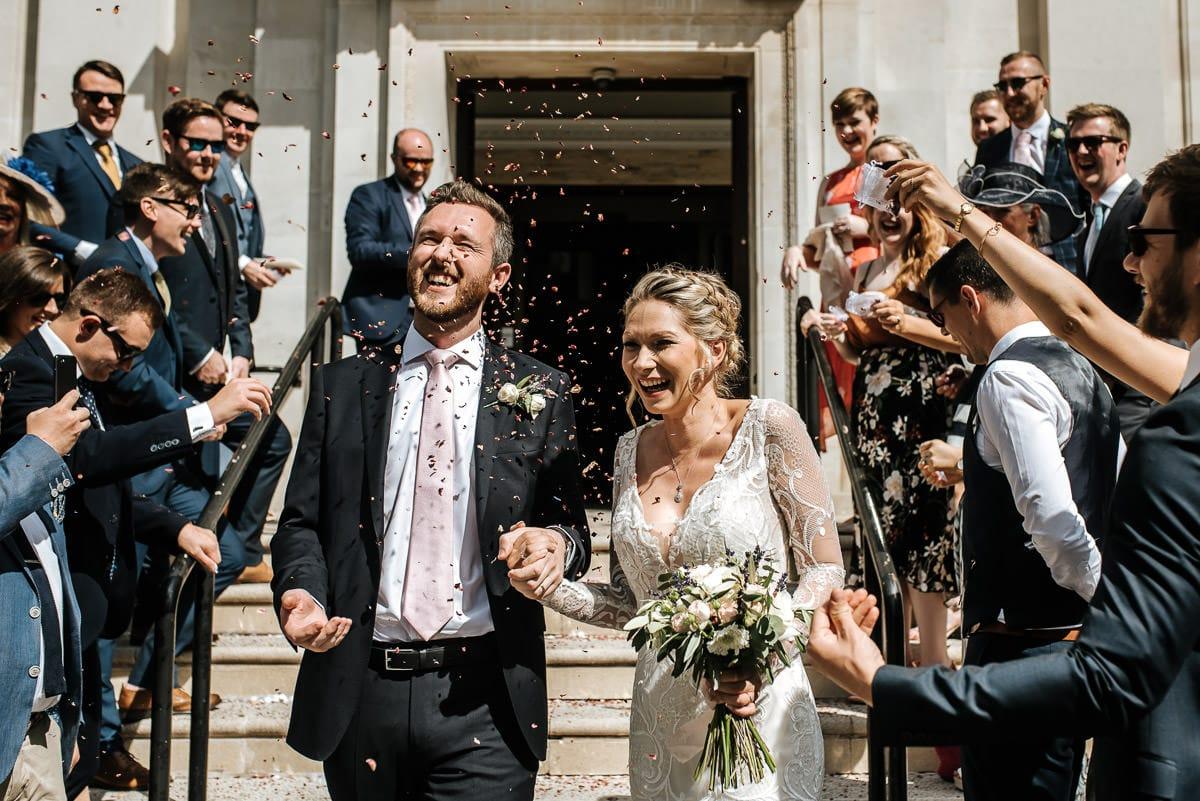 islington town hall wedding confetti