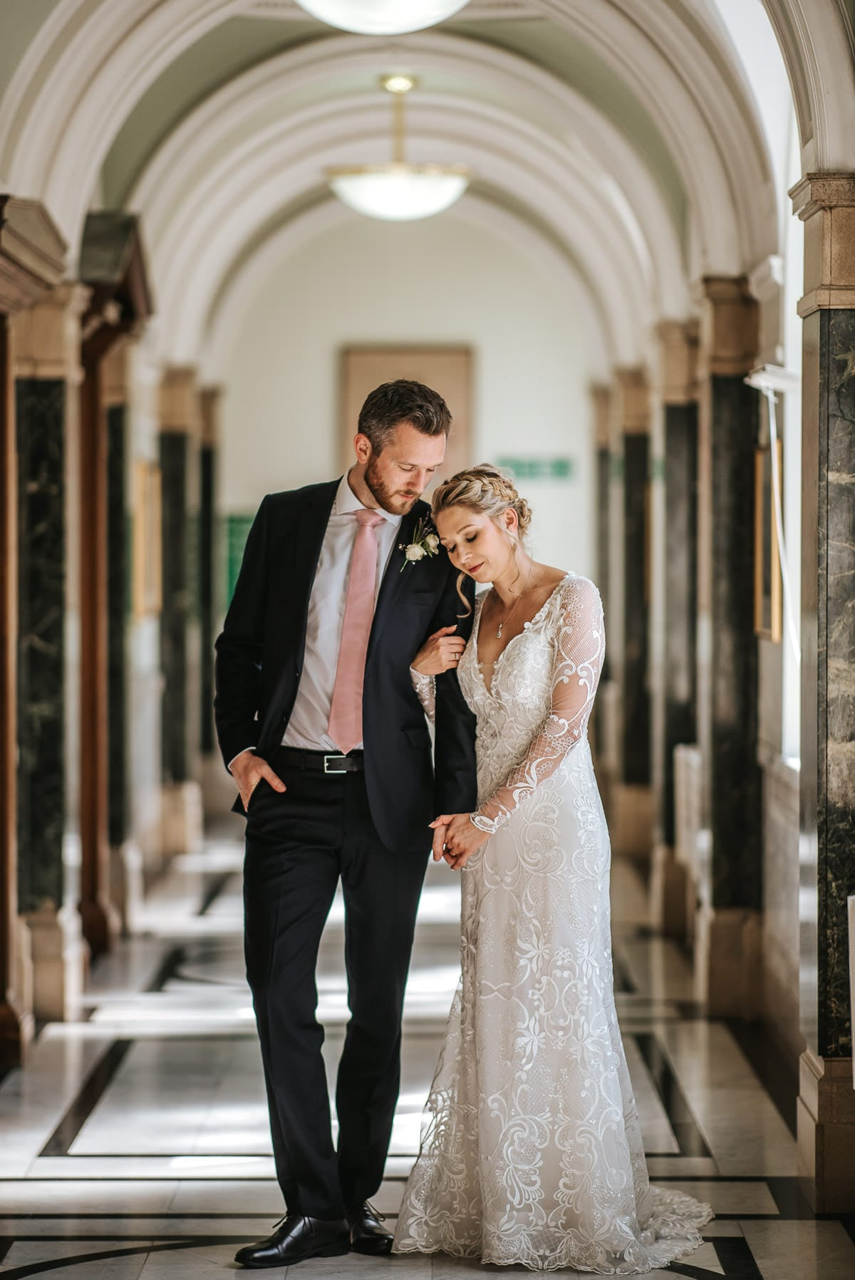 islington town hall wedding couple photo shoot inside