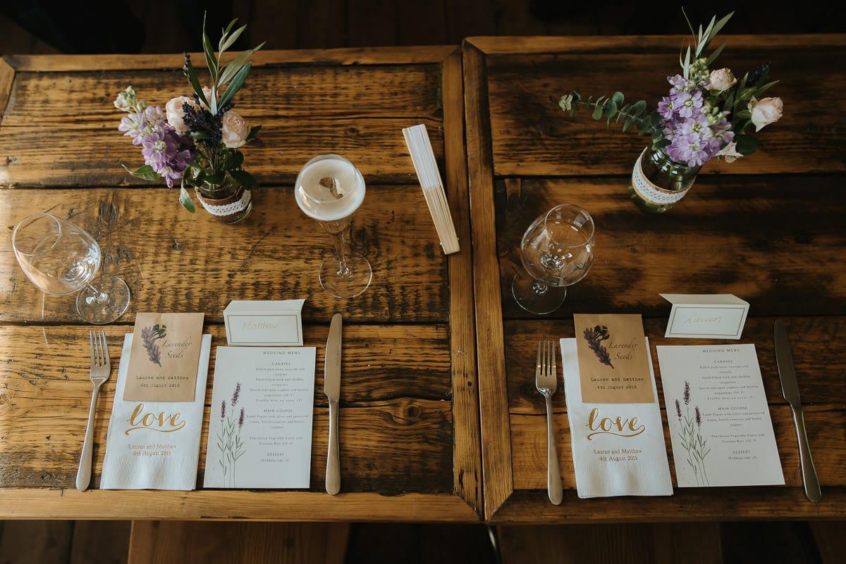 islington town hall wedding brookmill pub reception tabel set up