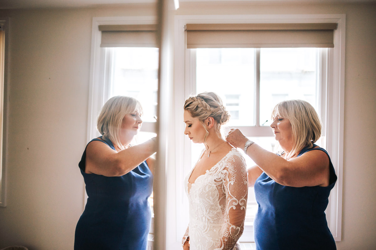 islington town hall wedding photography bride with mum