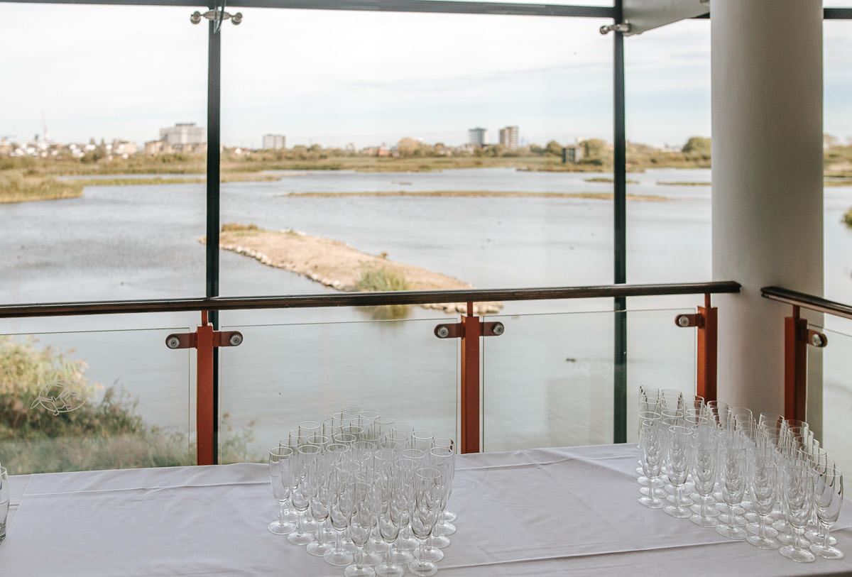 london wetland centre wedding view from the ceremony room