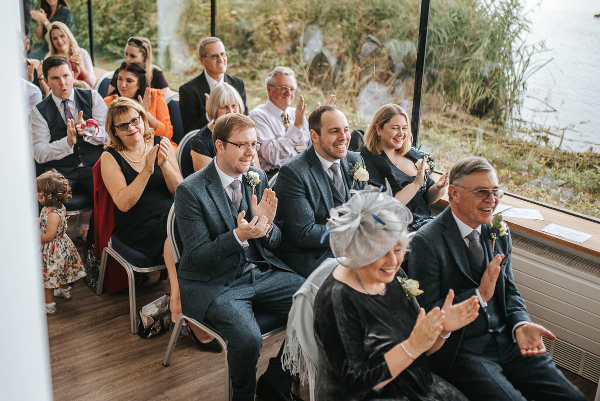 london wetland centre wedding ovations