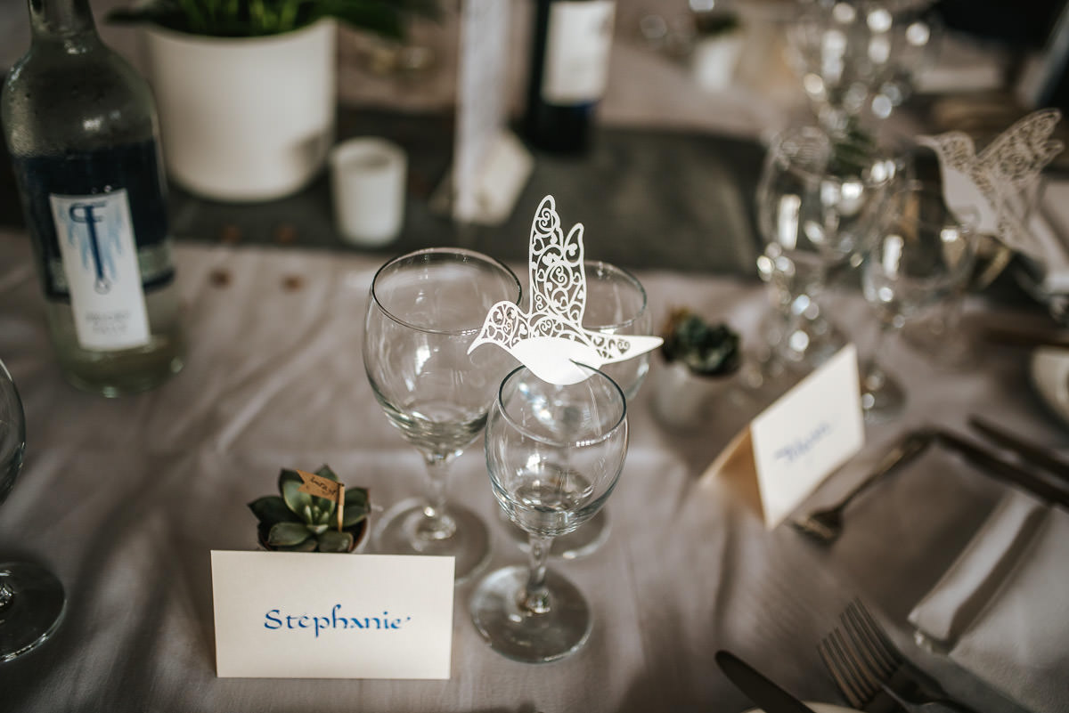 london wetland centre wedding breakfast decor