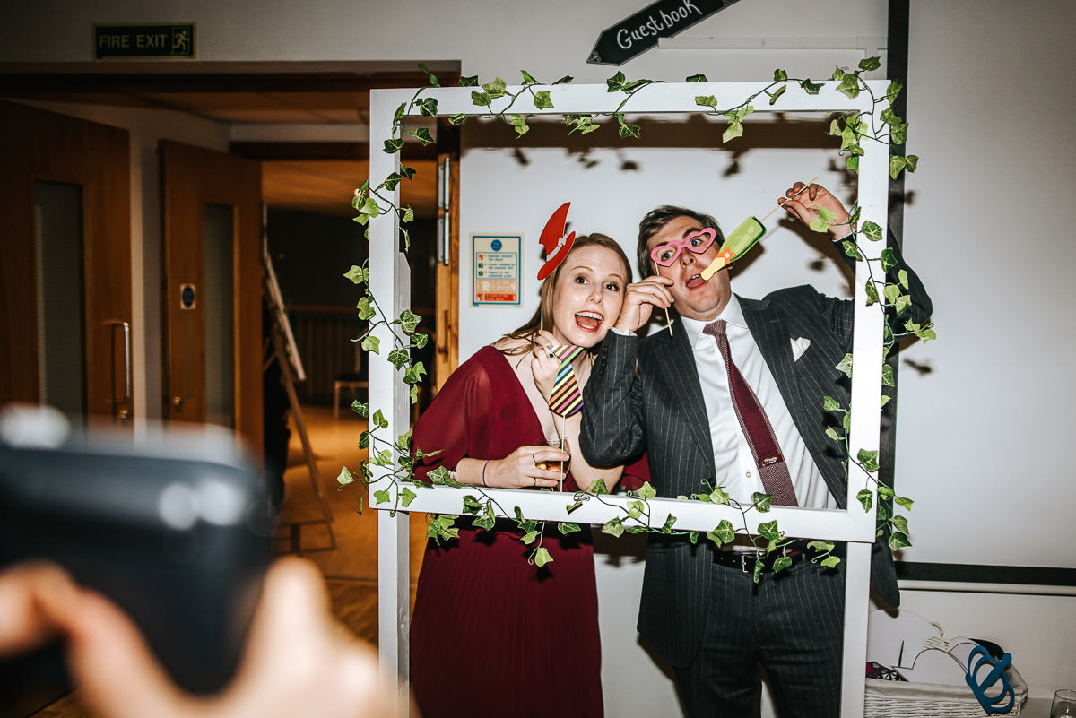 london wetland centre wedding photo booth