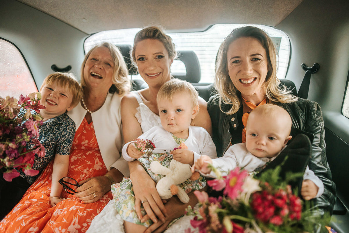 old marylebone wedding travelling to the venue