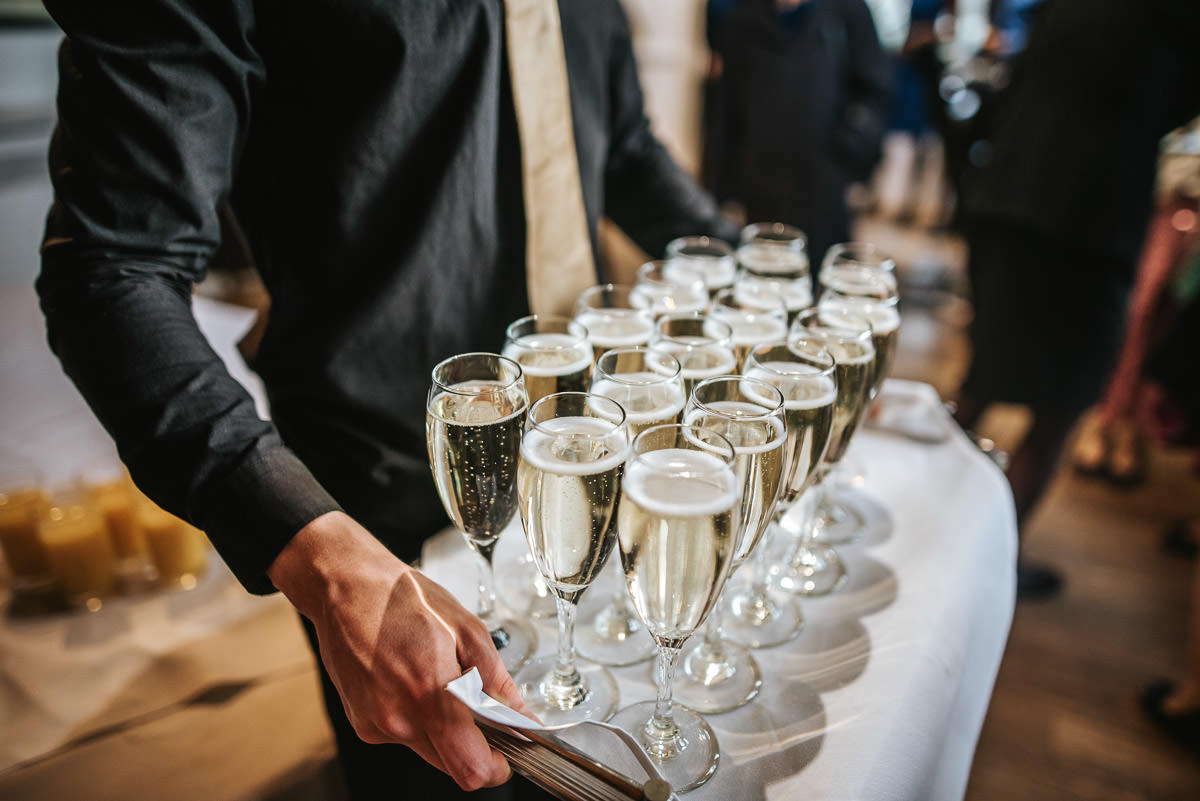 tewin bury farm wedding champagne