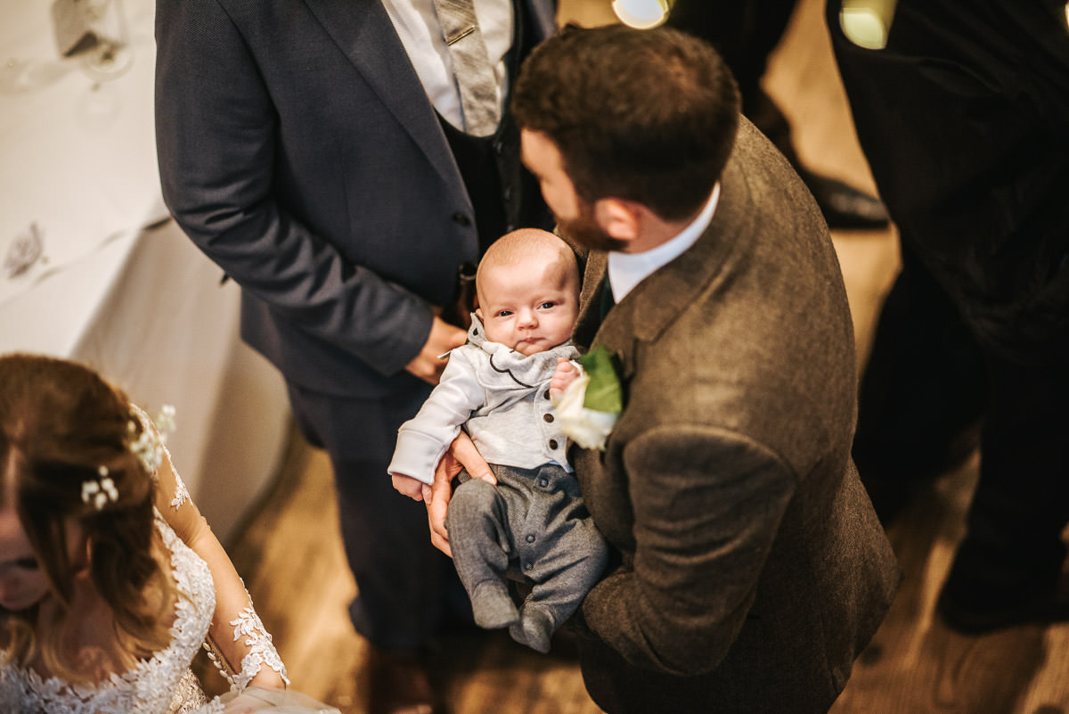 tewin bury farm wedding baby