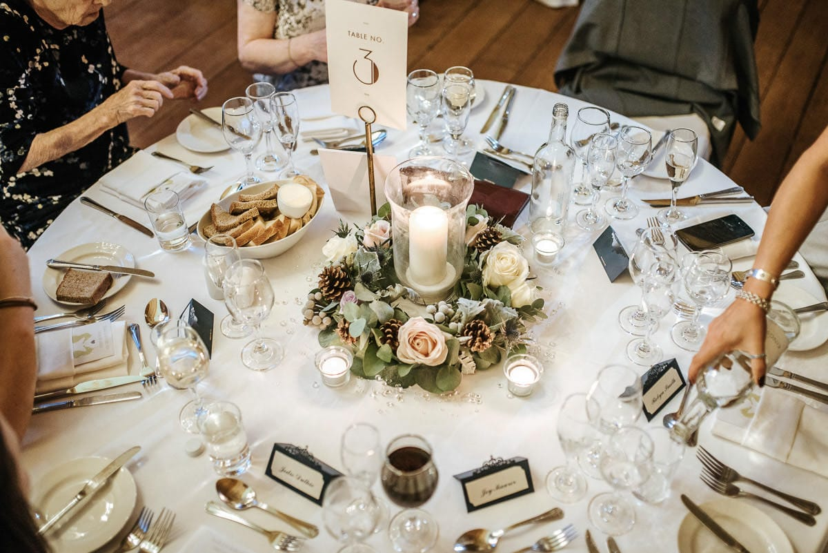 gosfield hall wedding breakfast room table