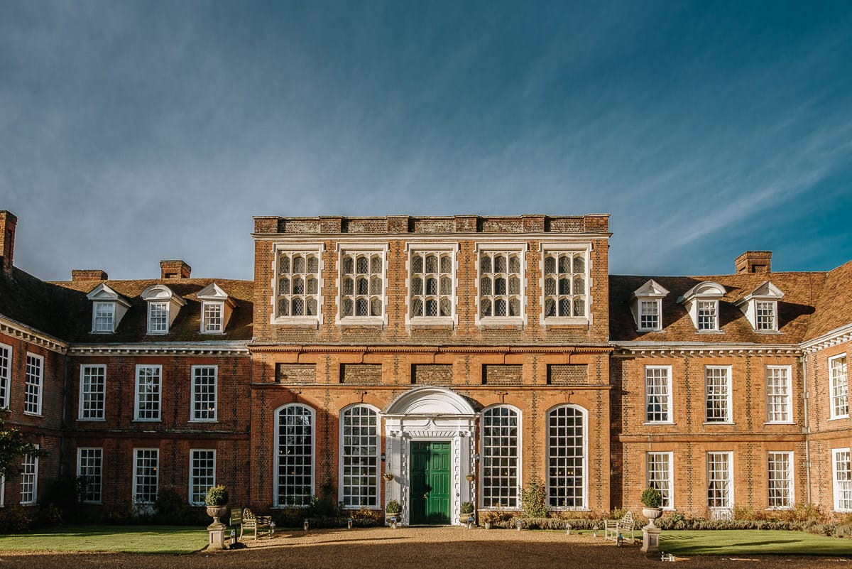 gosfield hall wedding facade