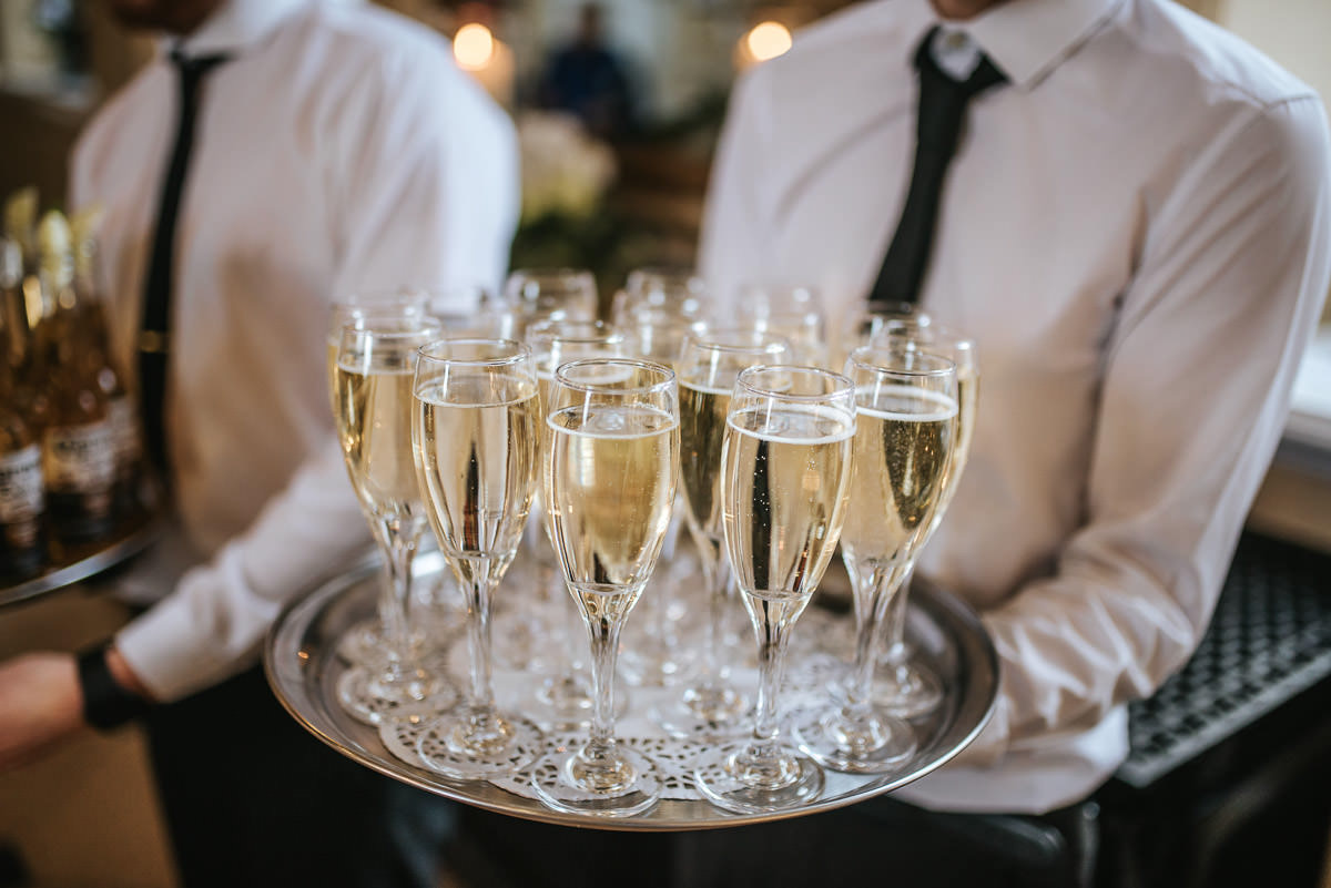 gosfield hall wedding chamagne