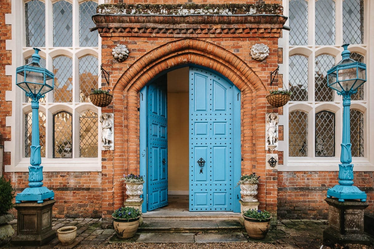 gosfield hall wedding blue door