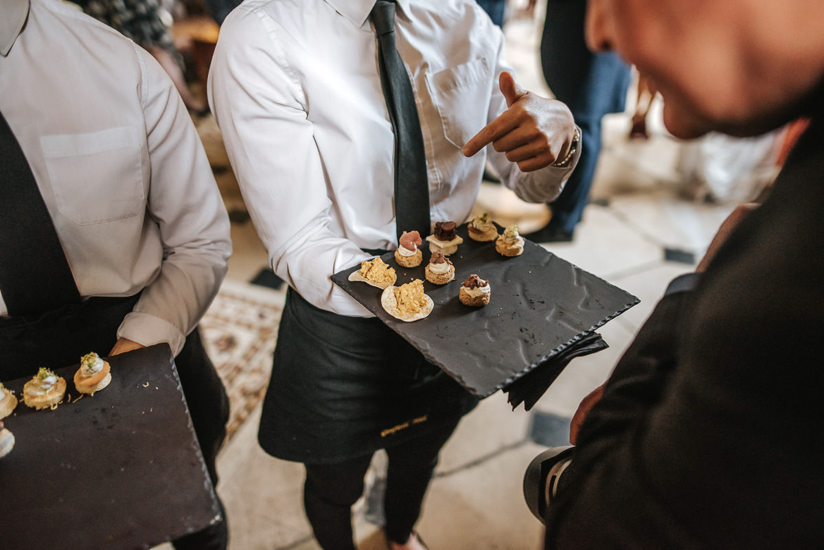 gosfield hall wedding canapes