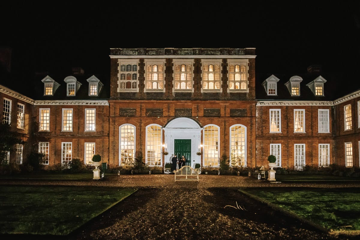 gosfield hall courtyard at night