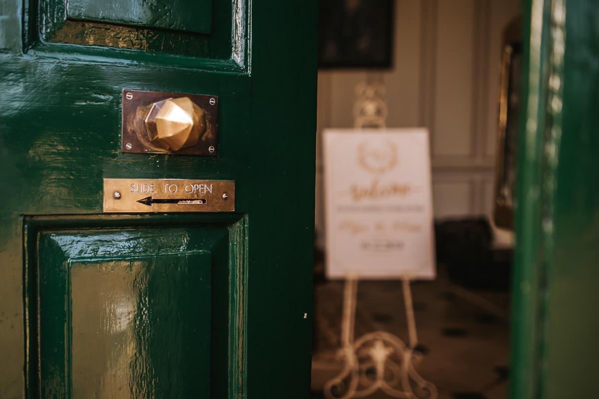 gosfield hall wedding venue door