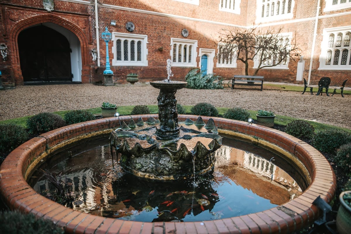 gosfield hall courtyard fountain
