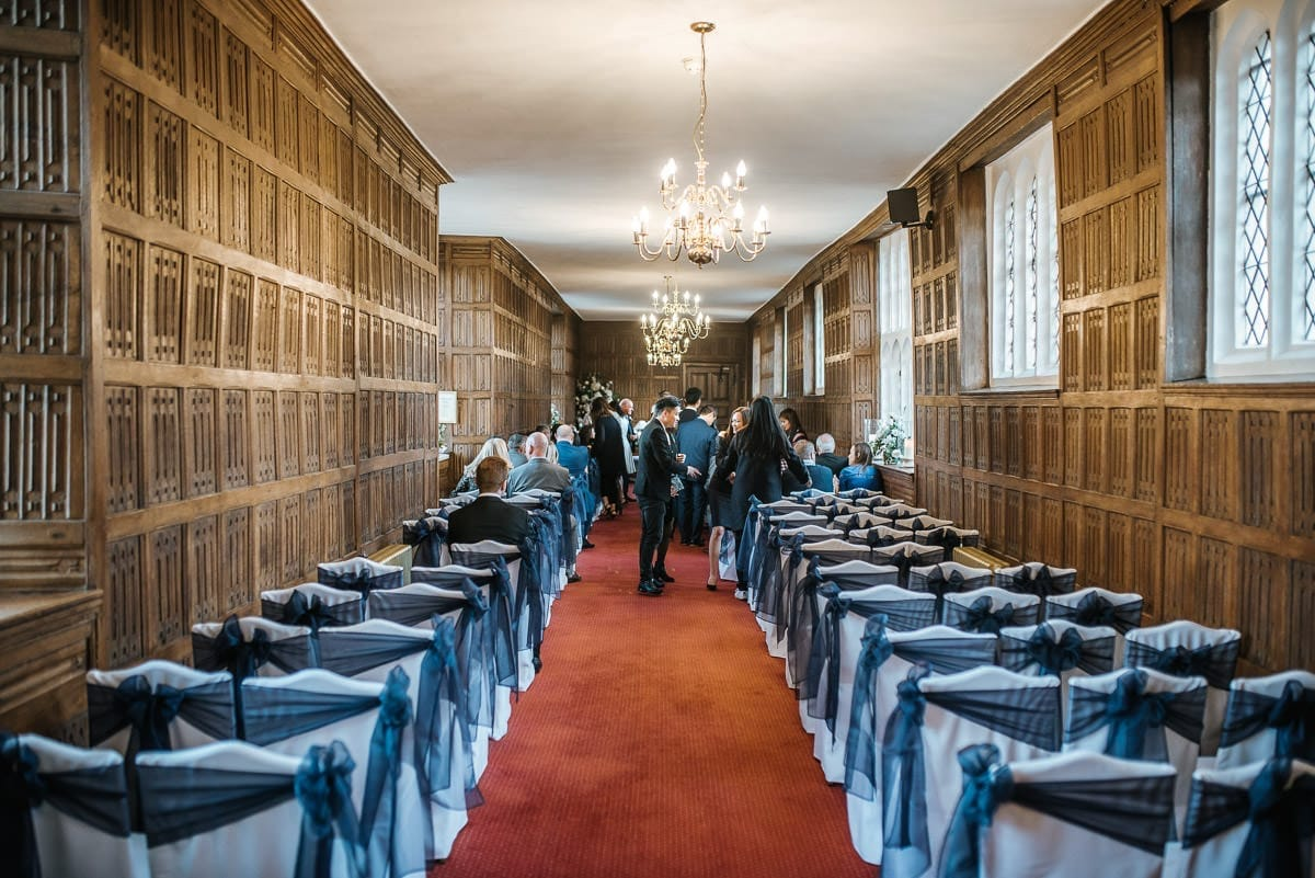 gosfield hall wedding ceremony room