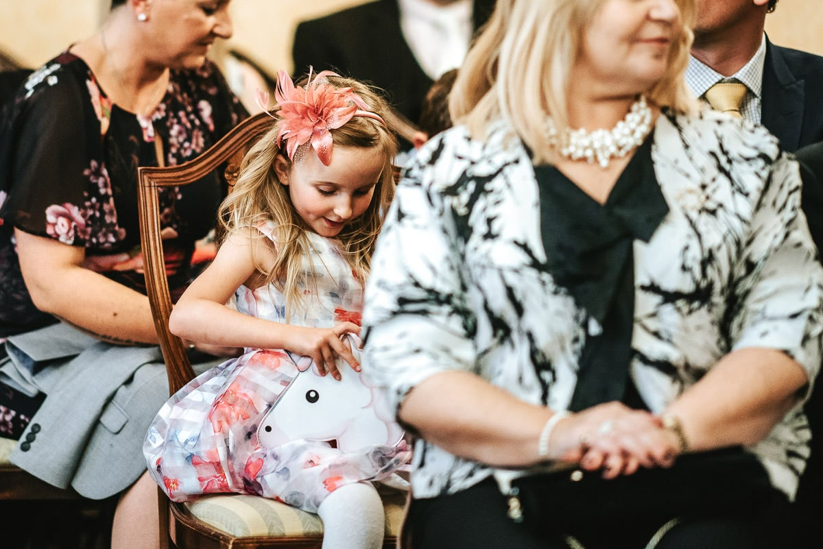 chelsea old town hall wedding brydon room flower girl