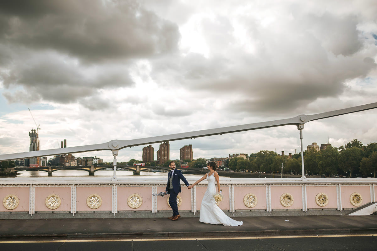 chelsea old town hall wedding couple shoot albert bridge