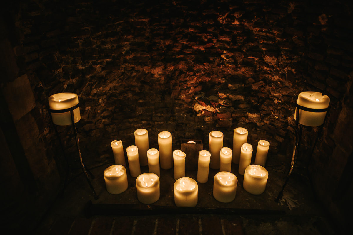 hedingham castle wedding candles