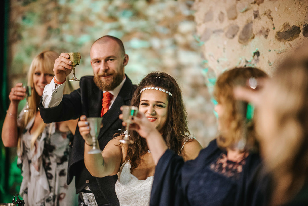 hedingham castle wedding speeches cheers