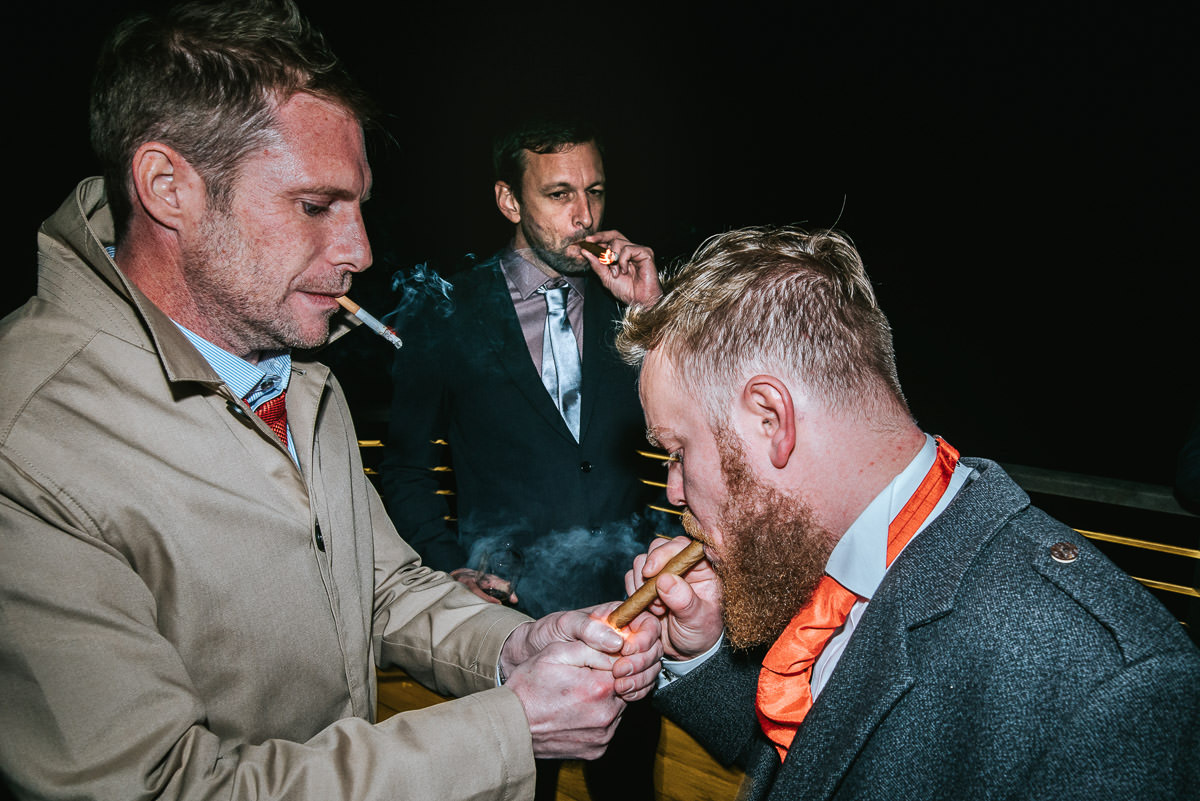 hedingham castle wedding cigars