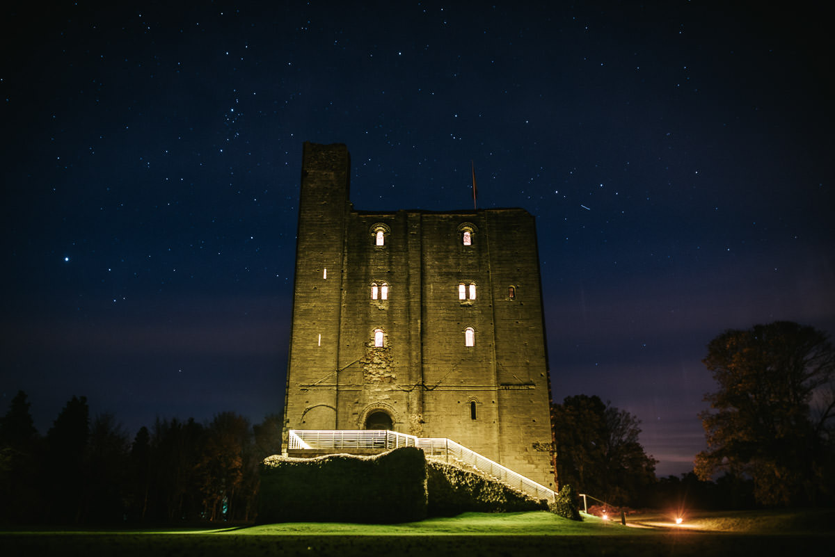 hedingham castle by night