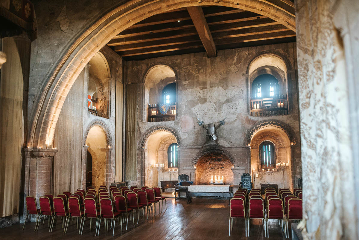 hedingham castle wedding grand hall