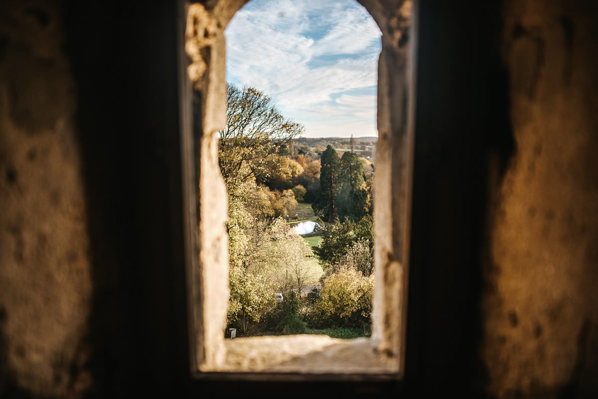 hedingham castle wedding view