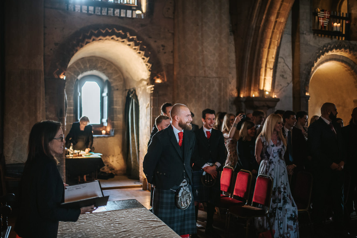hedingham castle wedding grooms reaction