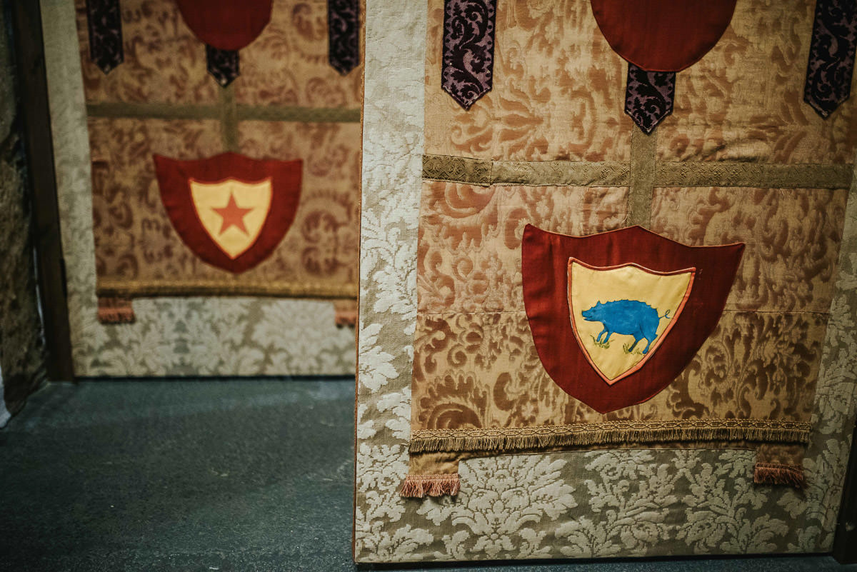 hedingham castle wedding flags
