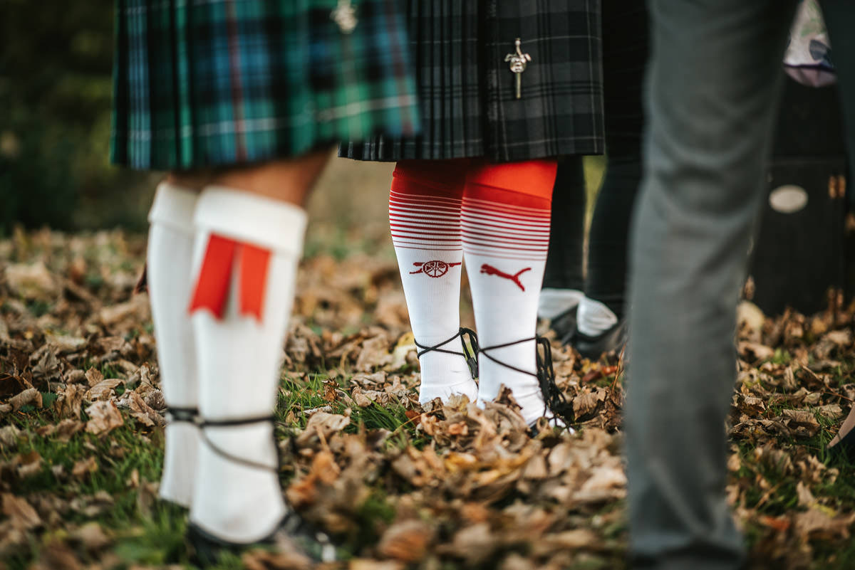 hedingham castle wedding socks