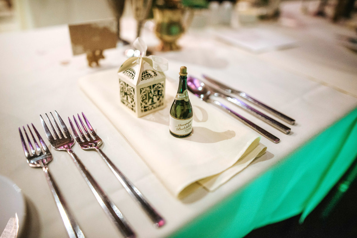 hedingham castle wedding table set up