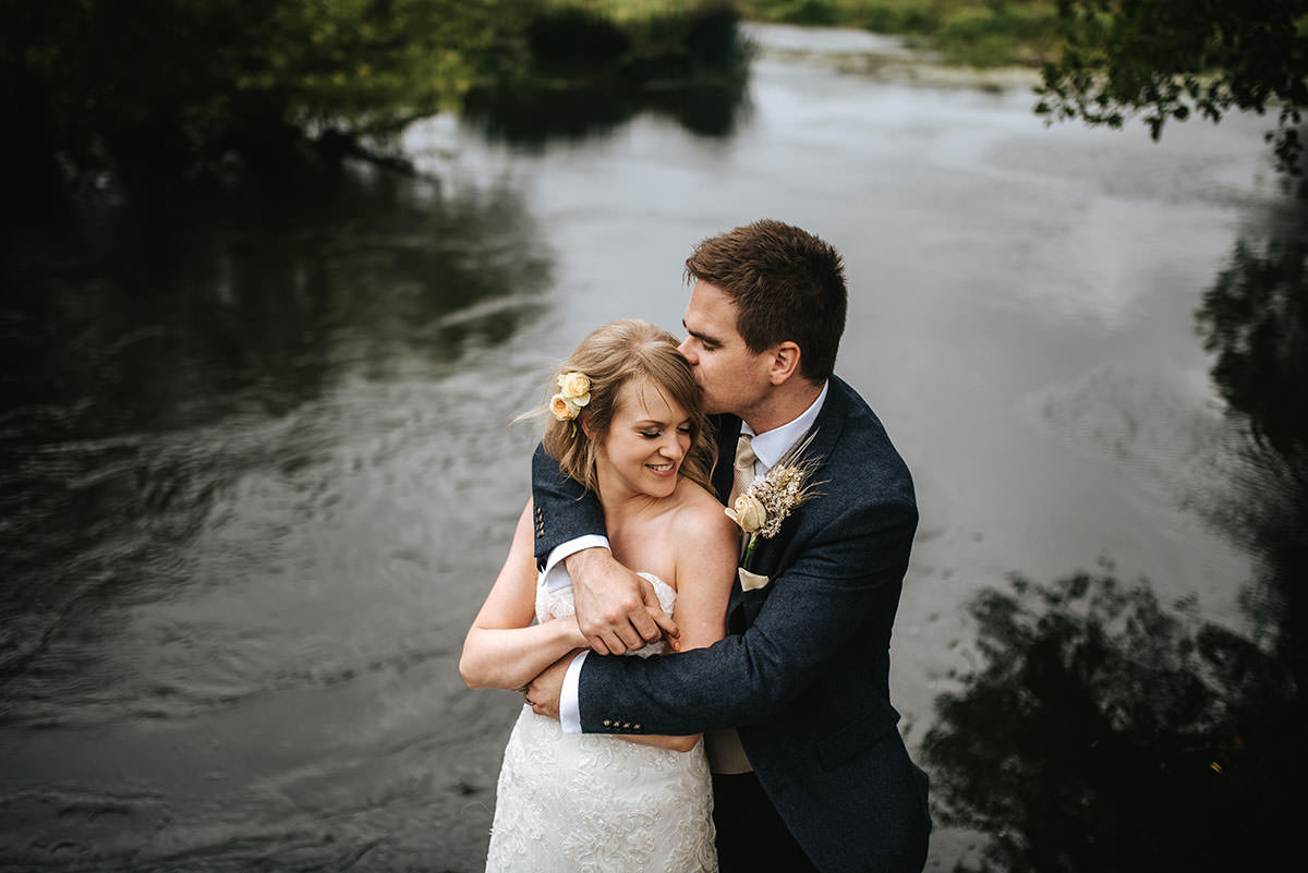 sopley mill wedding bride and groom shoot