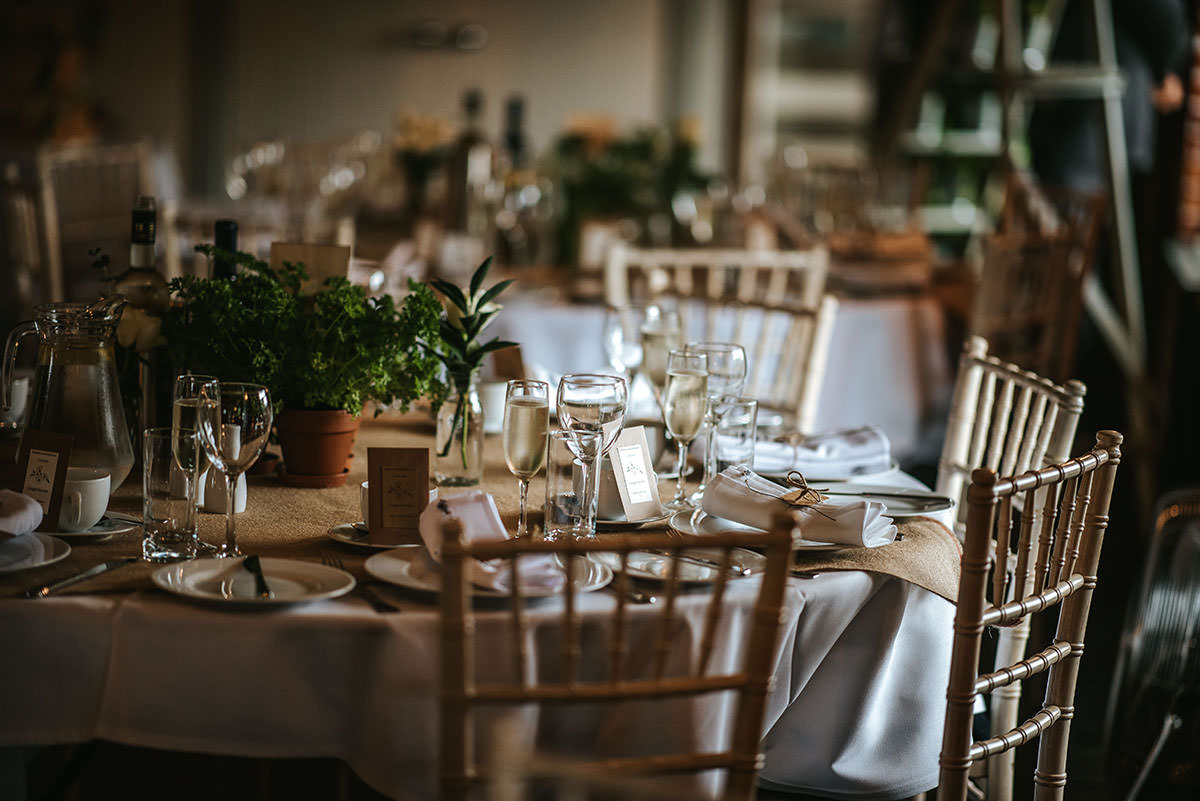 sopley mill wedding decor