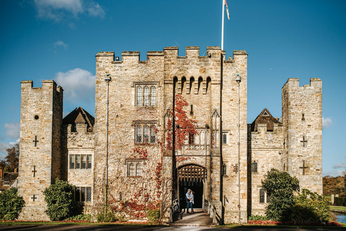 kent wedding photographer hever castle